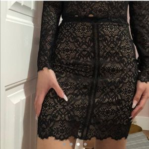 Wilfred long sleeve lace skirt set